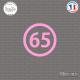 Sticker Département 65 Hautes Pyrénées Languedoc Roussillon Midi Pyrénées Tarbes Sticks-em.fr Couleurs au choix