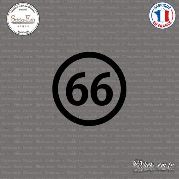 Sticker Département 66 Pyrénées Orientales Languedoc Roussillon Midi Pyrénées Perpignan