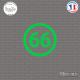 Sticker Département 66 Pyrénées Orientales Languedoc Roussillon Midi Pyrénées Perpignan Sticks-em.fr Couleurs au choix