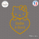 Sticker Bébé à Bord Hello Kitty Sticks-em.fr Couleurs au choix