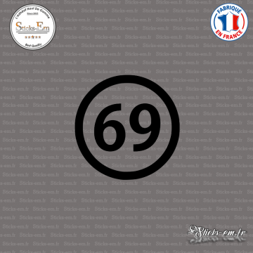 Sticker Département 69 Rhône Auvergne Rhône Alpes Lyon