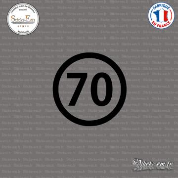 Sticker Département 70 Haute Saône Bourgogne Franche Comté Vesoul