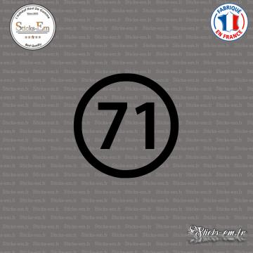 Sticker Département 71 Saône et Loire Bourgogne Franche Comté Mâcon