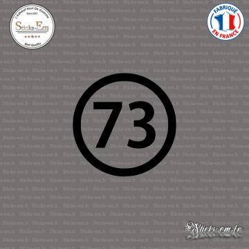 Sticker Département 73 Savoie Auvergne Rhône Alpes Chambéry
