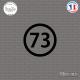 Sticker Département 73 Savoie Auvergne Rhône Alpes Chambéry Sticks-em.fr Couleurs au choix