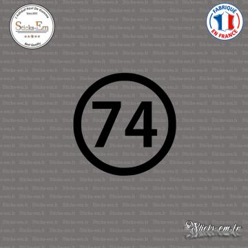 Sticker Département 74 Haute Savoie Auvergne Rhône Alpes Annecy