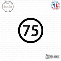 Sticker Département 75 Paris Ile de France Paris