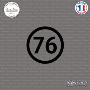Sticker Département 76 Seine Maritime Normandie Rouen