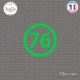 Sticker Département 76 Seine Maritime Normandie Rouen Sticks-em.fr Couleurs au choix