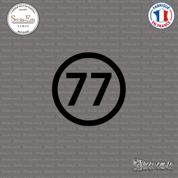 Sticker Département 77 Seine et Marne Ile de France Melun