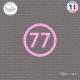 Sticker Département 77 Seine et Marne Ile de France Melun Sticks-em.fr Couleurs au choix