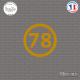 Sticker Département 78 Yvelines Ile de France Versailles Sticks-em.fr Couleurs au choix