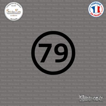Sticker Département 79 Deux Sèvres Aquitaine Limousin Poitou Charentes Niort