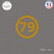 Sticker Département 79 Deux Sèvres Aquitaine Limousin Poitou Charentes Niort Sticks-em.fr Couleurs au choix