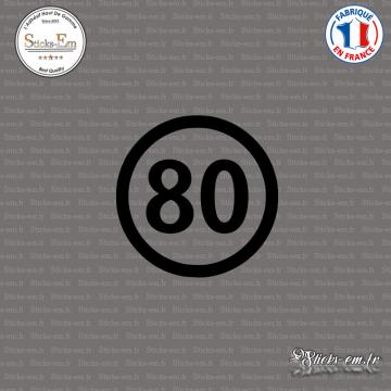 Sticker Département 80 Somme Nord Pas de Calais Picardie Amiens