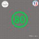 Sticker Département 80 Somme Nord Pas de Calais Picardie Amiens Sticks-em.fr Couleurs au choix