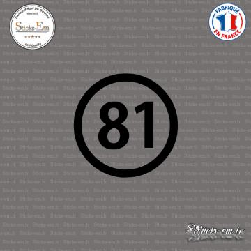 Sticker Département 81 Tarn Languedoc Roussillon Midi Pyrénées Albi