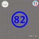 Sticker Département 82 Tarn et Garonne Languedoc Roussillon Midi Pyrénées Montauban Sticks-em.fr Couleurs au choix