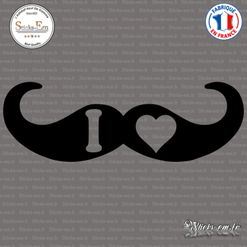 Sticker I Love Moustache