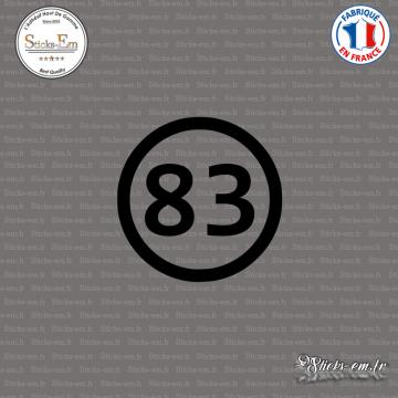 Sticker Département 83 Var Provence Alpes Côte d'Azur Toulon