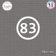 Sticker Département 83 Var Provence Alpes Côte d'Azur Toulon Sticks-em.fr Couleurs au choix