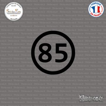 Sticker Département 85 Vendée Pays de la Loire La Roche sur Yon