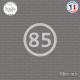 Sticker Département 85 Vendée Pays de la Loire La Roche sur Yon Sticks-em.fr Couleurs au choix