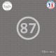 Sticker Département 87 Haute Vienne Aquitaine Limousin Poitou Charentes Limoges Sticks-em.fr Couleurs au choix