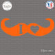 Sticker I Love Moustache Sticks-em.fr Couleurs au choix