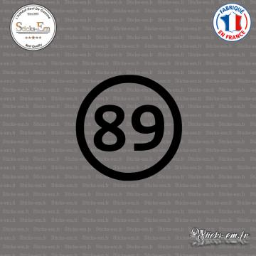 Sticker Département 89 Yonne Bourgogne Franche Comté Auxerre