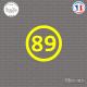 Sticker Département 89 Yonne Bourgogne Franche Comté Auxerre Sticks-em.fr Couleurs au choix