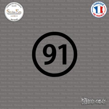 Sticker Département 91 Essonne Ile de France Evry