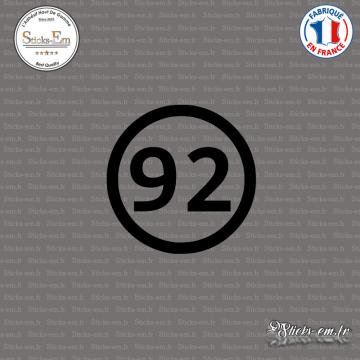 Sticker Département 92 Hauts de Seine Ile de France Nanterre