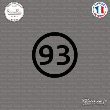 Sticker Département 93 Seine Saint Denis Ile de France Bobigny