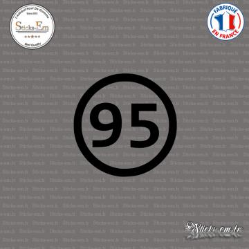 Sticker Département 95 Val d'Oise Ile de France Cergy