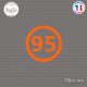 Sticker Département 95 Val d'Oise Ile de France Cergy Sticks-em.fr Couleurs au choix