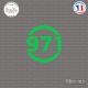 Sticker Département 971 Guadeloupe DOM Basse Terre Sticks-em.fr Couleurs au choix