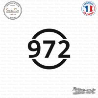 Sticker Département 972 Martinique DOM Fort de France