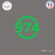 Sticker Département 974 La Réunion DOM Saint Denis Sticks-em.fr Couleurs au choix