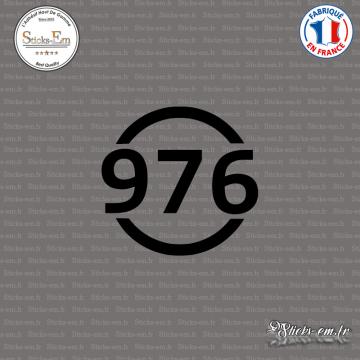 Sticker Département 976 Mayotte DOM Mamoudzou