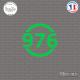 Sticker Département 976 Mayotte DOM Mamoudzou Sticks-em.fr Couleurs au choix
