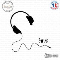Sticker Casque Love Sticks-em.fr Couleurs au choix