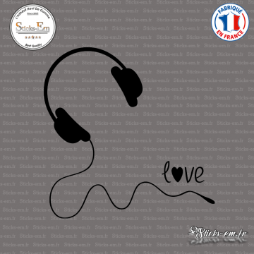 Sticker Casque Love