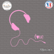 Sticker Casque Love Sticks-em.fr Couleurs au choix