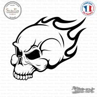 Sticker Tête de Mort Flammes
