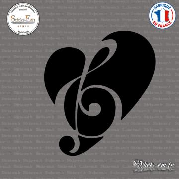 Sticker Coeur de la Musique