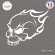 Sticker Tête de Mort Flammes Sticks-em.fr Couleurs au choix