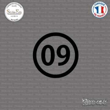 Sticker Département 09 Ariège Languedoc Roussillon Midi Pyrénées Foix