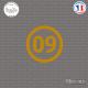 Sticker Département 09 Ariège Languedoc Roussillon Midi Pyrénées Foix Sticks-em.fr Couleurs au choix