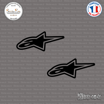 2 Stickers Alpinestars Logo